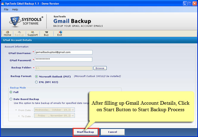 Know How To Create Gmail Backup